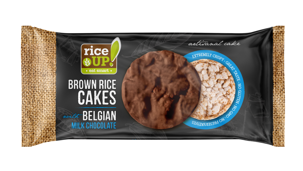 Rice UP! Brown Rice Cakes with Belgian Milk chocolate 90g