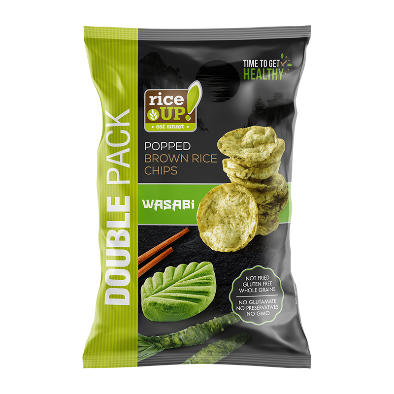 RICE UP! Brown Rice Chips Wasabi Double Pack MOCK UP NEW S